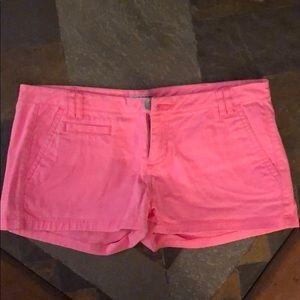 Express Neon Pink shorts